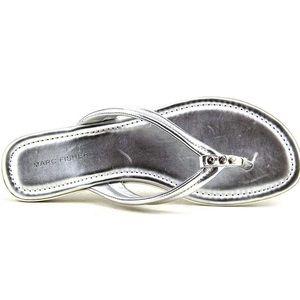 Marc Fisher Alesandra2 Silver Flip Flop